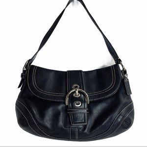 COACH Leather Soho Hobo Handbag